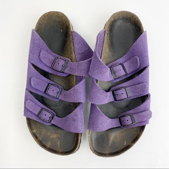 Betula Birkenstock Purple 3 Strap Sandals Size 7